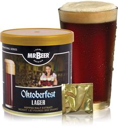 Beer Oktoberfest Lager 2 Gallon Homebrewing Craft Beer Refill Kit, Contains Hopped Malt Extract Designed for Consistent, Simple and Efficient Homebrewing, Multicolor Beer Recipes, Gourmet Recipes, Gourmet Food Gifts, Dark Beer, Home Brewing Beer, Root Beer, Alcoholic Drinks, Simple, Homebrewing