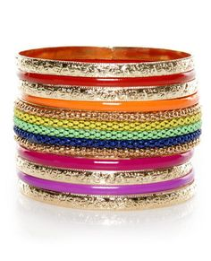 Color code gold bangle set  $17