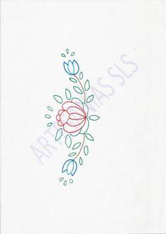 Diseño para Bordado Mexicano.   ♥ Camino de mesa ♥  Si quieres aprender Bordado Mexicano búscame en Youtube en ARTESANíAS SLS. Allí aprenderás a bordar este diseño.
