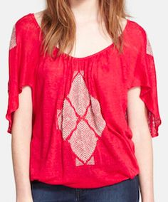 Free People red hippy-chic shirt