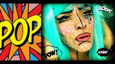 Pop Art - Comic Book Makeup Tutorial   ElissavetB