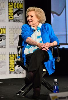 Not that kind of comic, but we love her anyway! Betty White appears at Comic-Con '14.