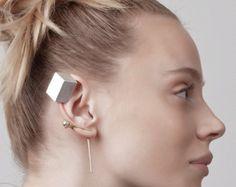 Erin Earring gold statement earrings gold geometric