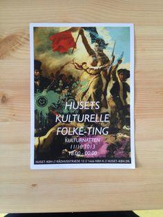 Flyer/poster for Kulturnat 2013.