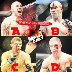 Who's your money on this weekend? #UFCNashville #Fightweek #mma #ufc