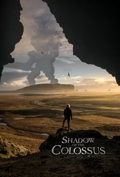 Shadow of the Colossus poster based on a photo by /u/guysensaid