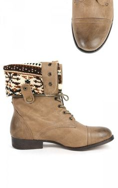 Sharper-1 Two Way Combat Boots TAUPE