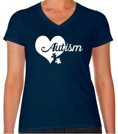Autism, Autism Awareness, Autism Awareness Shirt, Autism Support, Autism Gifts, Autistic V Neck Tee, Fight Autism ********************************************************* **** SIZING CHART MEASUREMENTS...ALSO PLEASE SEE SIZING CHART PHOTO**** This is for G5V000L Gildan Ladies