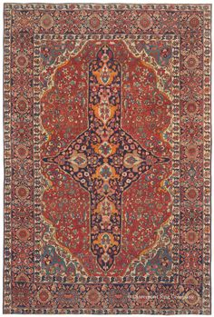 FERAHAN SAROUK, West Central Persian3ft 4in x 5ft 0in Circa 1900