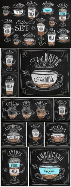 Great ways to make authentic Italian coffee and understand the Italian culture of espresso cappuccino and more! Coffee Art, My Coffee, Coffee Drinks, Coffee Cups, Coffee Menu, Coffee Barista, Coffee Drawing, Coffee Signs, Coffee Chalkboard