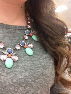 Statement necklace and tee: A Dash of Ash