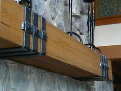 wrought iron mantle straps