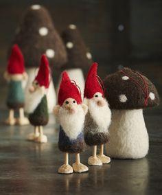 Roost Wooly Gnome Christmas Ornaments
