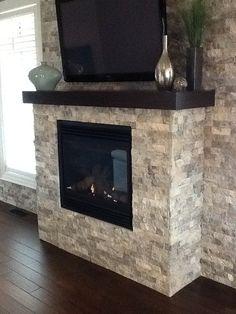 Fireplace Stone Splitface Travertine Silver
