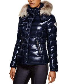 Moncler Armoise Fox Fur Hooded Down Jacket