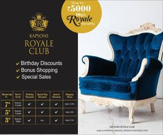 Be a Royale Club patron to get exclusive deals, privileges & several benefits with our associated brands. Shop at Kapsons store to be a Royale member now. #RoyaleClub #Kapsons