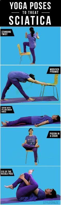 8 Effective Yoga Poses To Treat Sciatica - Read & Repin Follow Us