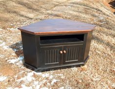 Rustic Handcrafted Corner Tv Cabinet. Great Entertainment Center And Media…