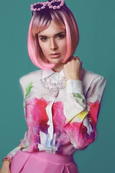 Love her make up n pink hair Natalie Clifford Barney, Hair Day, Your Hair, Afro, Hair Rainbow, Candy Hair, Pose, Coloured Hair, Models