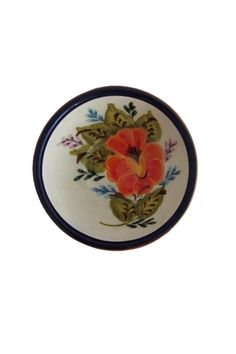 "Casafina dipping bowl is unique, hand-painted and hand-thrown Portuguese stoneware of exceptional quality. You won't find two pieces exactly alike.    Approx. Measures: 4.5"" diameter    Terracotta Dipping Bowl by D'Accord Boutique. Home & Gifts - Home Decor - Dining West Virginia"