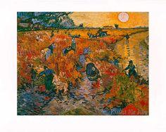 Vincent van Gogh - Die roten Weinberge von Arles