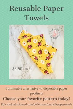 Reusable paper towels bring sustainable living to your home. Sustainable alternative to expensive disposable paper products like: paper towels, napkins, facial tissue and toilet paper. Eliminate the chemicals and waste of expensive cleaning wipes, baby wipes and swiffer floor cleaning pads. Use them as a softer alternative to wash clothes. The soft flannel makes them perfect for scratch free cleaning, dusting and polishing. #reusablepapertowels #sustainableliving #ecofriendly…