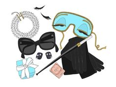 This is just such a cute illustration. #HollyGolightly #BreakfastAtTiffanys #Illustration
