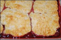 Cherry cobbler using a recipe from the Civil War