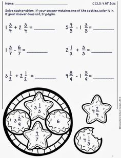 Check out my NEW Winter Solve & Check Math Worksheets for grade. This pack contains 33 math worksheets aligned to the grade CCLS f. Fractions Worksheets, Fun Worksheets, Math Fractions, Math Teacher, Math Classroom, Teaching Math, Mastering Math, Adding And Subtracting Fractions, Algebra Activities