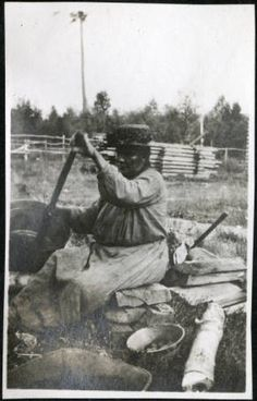nett lake women Mrs jim dritt scraping hide, nett lake creator: monroe p killy photograph collection, 1946 visual resources database minnesota historical society.
