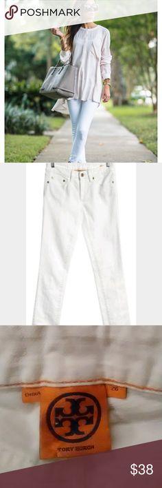 Tory Burch White Super Skinny Jeans Tory Burch White Super Skinny Jeans Size 26 Inseam 33 Condition - new without tags Tory Burch Jeans Skinny
