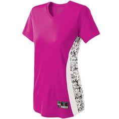 Women's Change-UP Softball Jersey Holloway Sportswear XL Power Pink/White/White Print Softball Jerseys, Basketball Tickets, Baseball Uniforms, Team Uniforms, Basketball Rules, Basketball Court, Cute Hoodie, Sweater Hoodie, Pink Games