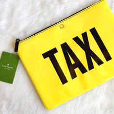 NWT Kate Spade Gia TAXI Cheeky! This NYC vibe clutch is a #gno MUST HAVE! NWT, flawless! kate spade Bags Clutches & Wristlets