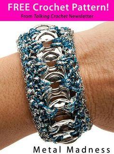 The Shtick I Do!: Soda Tab Crochet Bracelet