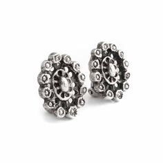 Koop deze zilveren Blachian Antik Schmuck oorclips uit de collectie antieke en vintage sieraden van Aurora Patina!