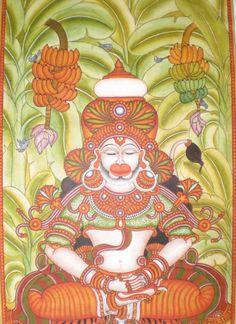 Kala Ksetram Kerala Mural Painting, Tanjore Painting, Art Forms Of India, Mural Art, Murals, Madhubani Art, Indian Folk Art, Outline Drawings, Illustration Sketches