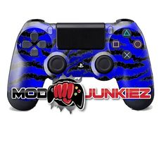 Hydro Dipped Royal Blue Tiger Stripe PS4 Dual Shock 4 Controller