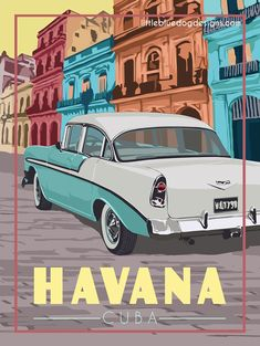 © 2021 Little Blue Dog Designs National Park Posters, National Parks, Cuba Travel, Short Comics, Grand Canyon National Park, Havana Cuba, Blue Dog, Rest Of The World, Vintage Travel Posters