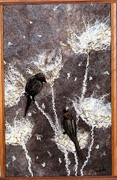 Rahola   Drdul   Gallery Wool Felting, Nuno Felting, Needle Felting, Flock Of Birds, Felt Birds, Felt Wall Hanging, Felt Pictures, Panel Quilts, Felt Art