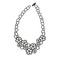 Sweet Flower Necklace Black, 30€,