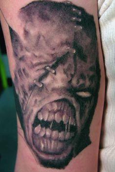 Evil Tattoos, Tattoo Ideas, Skull, Portrait, Headshot Photography, Portrait Paintings, Drawings, Portraits, Skulls