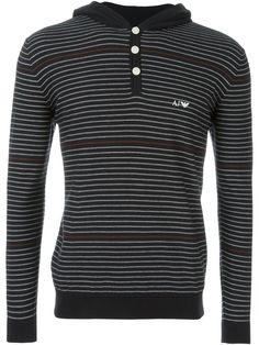 Armani Jeans hooded striped sweater