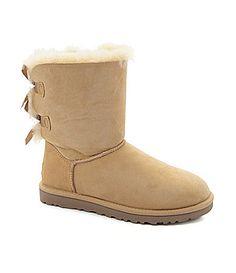 UGG Australia Womens Classic Short Bailey Bow Boots #Dillards