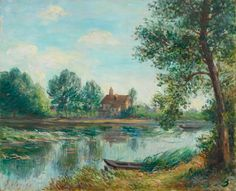 Banks Of The Loing At Saint 1892 Acrylic Print by Sisley Alfred. All acrylic prints are professionally printed, packaged, and shipped within 3 - 4 business days and delivered ready-to-hang on your wall. Impressionism, Landscape Paintings, Figure Painting, Painter, Great Artists, Artist, Painting, Impressionist Landscape, Beautiful Art