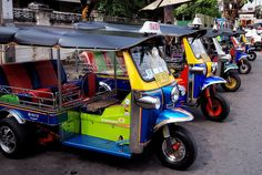 Tuk-Tuk Tuk-tuks or Sam-lors have become one of Bangkok's most recognisable modes of transport and are still popular among tourists and visitors. Riding a tuk-tuk is more of an experience rather than a practical way to get around. So, if it's your first time in Bangkok, then there is no harm in giving it a go.