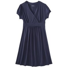 Awesome, comfortable dress from Target, $24.99. Merona® Petites Short-Sleeve V-Neck Dress - Assorted Colors