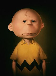 Painting of Charlie Brown by Tim O'Brien