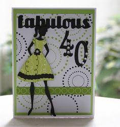 Cute birthday card using Forever Young Cricut Cartridge.