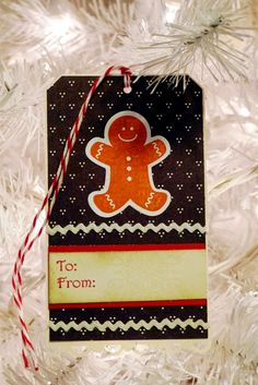 Scentsational Season gingerbread gift tag