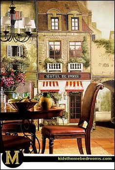 French Cafe Bistro Kitchen Or Paris Themed Bedrooms.
